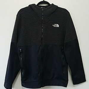 Men's Medium North Face Full Zip Hoodie Gray Black